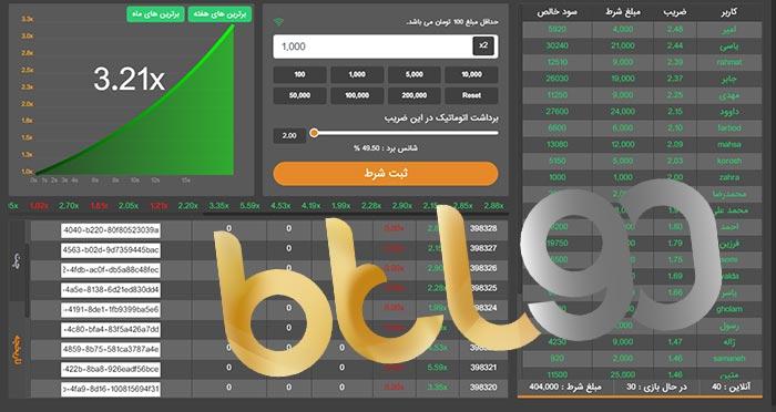 ضریب های سایت بازی انفجار btl90